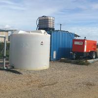 Supervisión de la descontaminación de un vertido de hidrocarburos